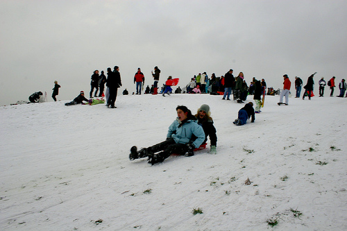 Having a ball sliding down Primrose Hill